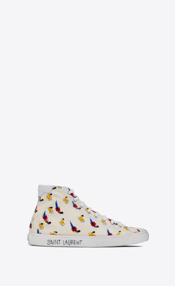 """malibu mid-top sneakers in """"coup de pinceau"""" print canvas and leather"""
