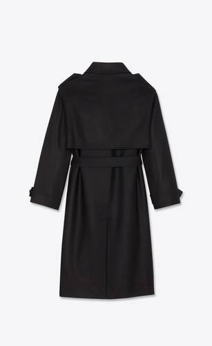 oversized wool trench coat