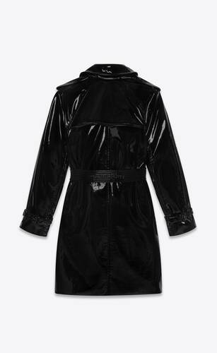 trench coat in stretch vinyl
