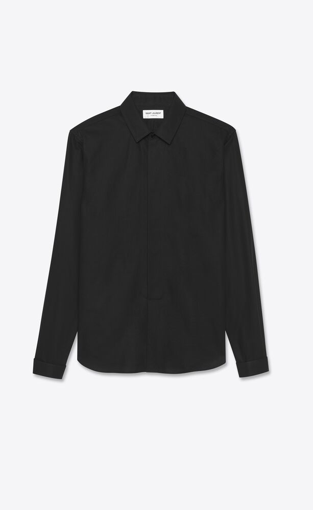 small bib shirt in cotton poplin