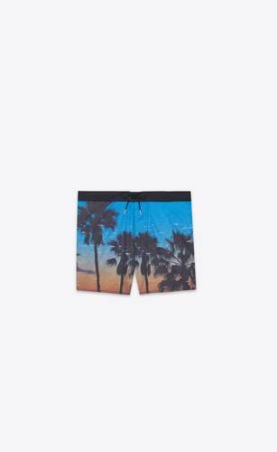 """""""vhs sunset"""" print swim shorts"""