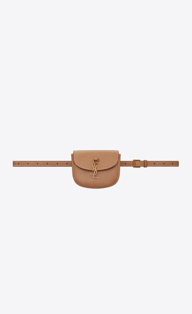kaia belt bag in smooth vintage leather