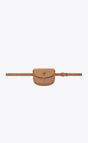 kaia belt bag in smooth vintage leather
