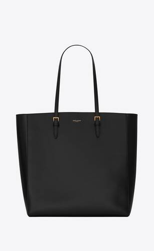 boucle n/s shopping bag in smooth leather