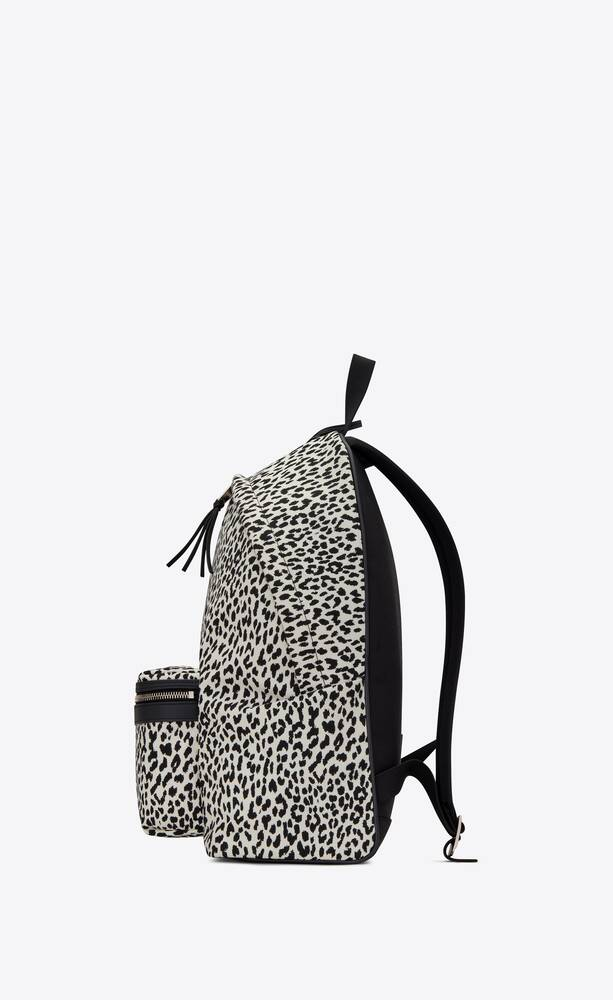 city backpack in printed canvas