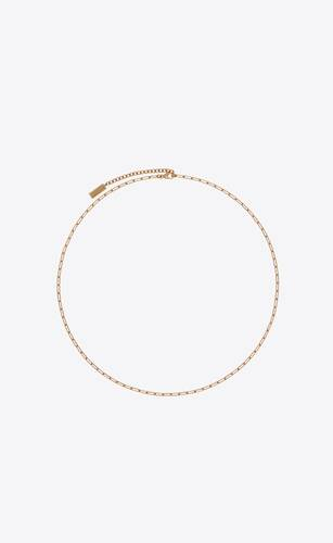 small metal cable-chain necklace