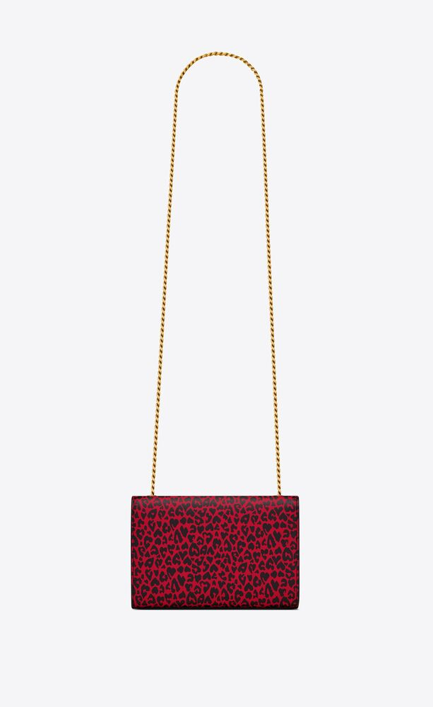 kate small in heart-shaped leopard-print leather