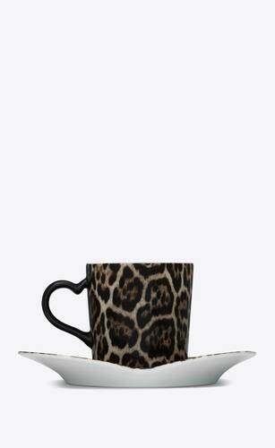 j.l coquet leopard coffee set in porcelain
