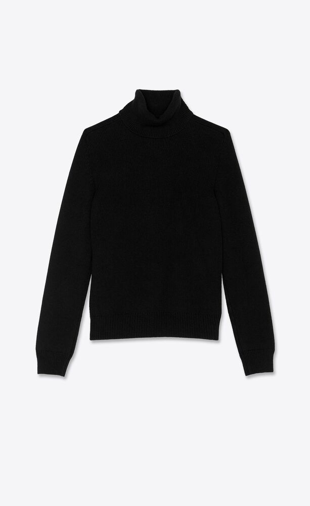 turtleneck sweater in cashmere saint laurent