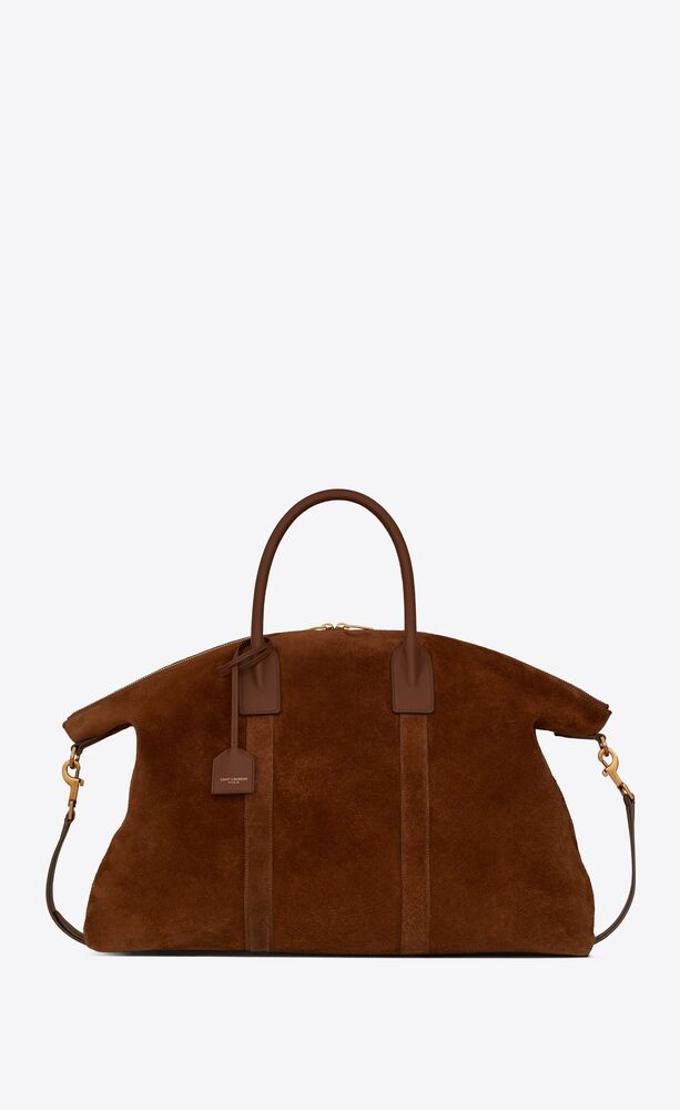giant bowling bag in suede