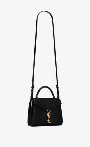 cassandra mini top handle bag in hand-woven leather