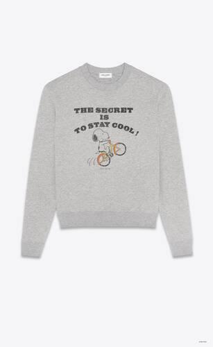 "sweatshirt ""saint laurent snoopy"""