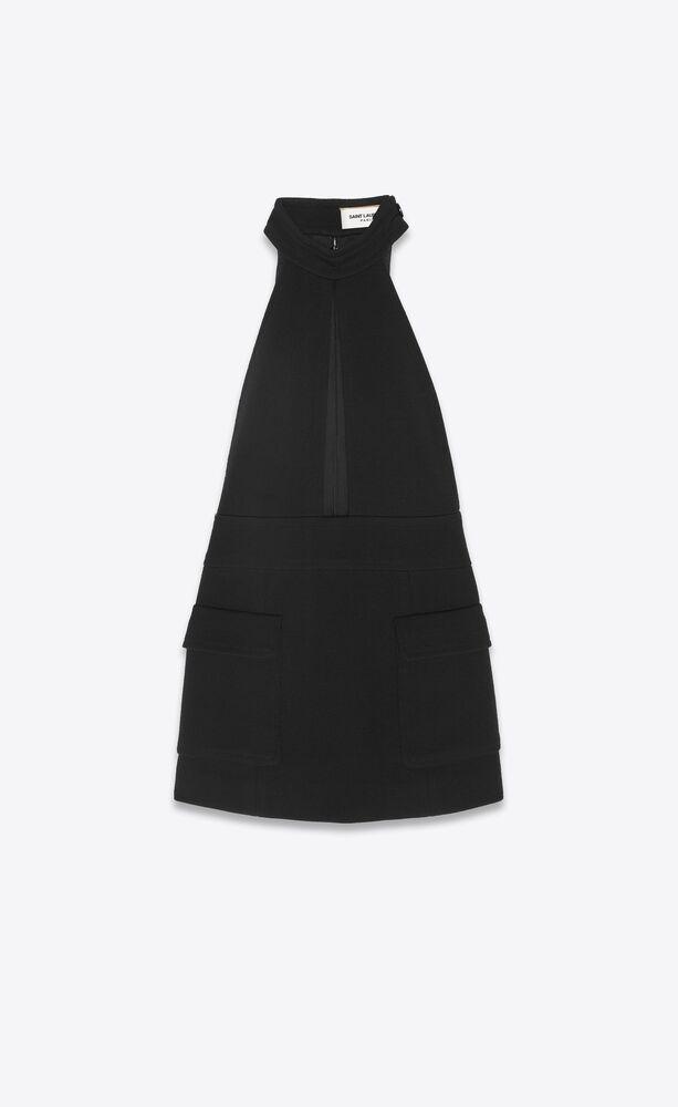 keyhole dress in wool jersey