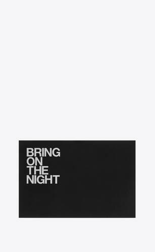 """bring on the night"" postcard"