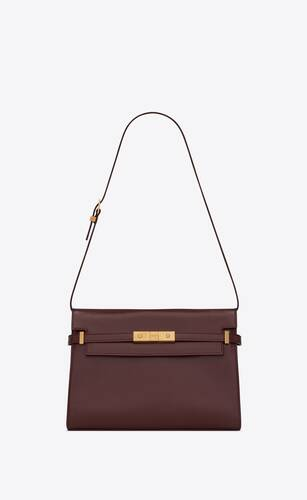 manhattan shoulder bag in smooth leather