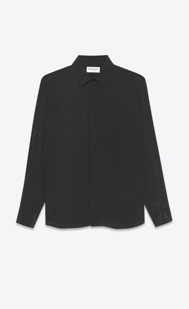 classic shirt in dotted crepe de chine