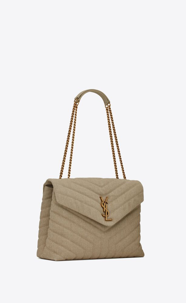 """loulou medium in """"y"""" quilted linen"""