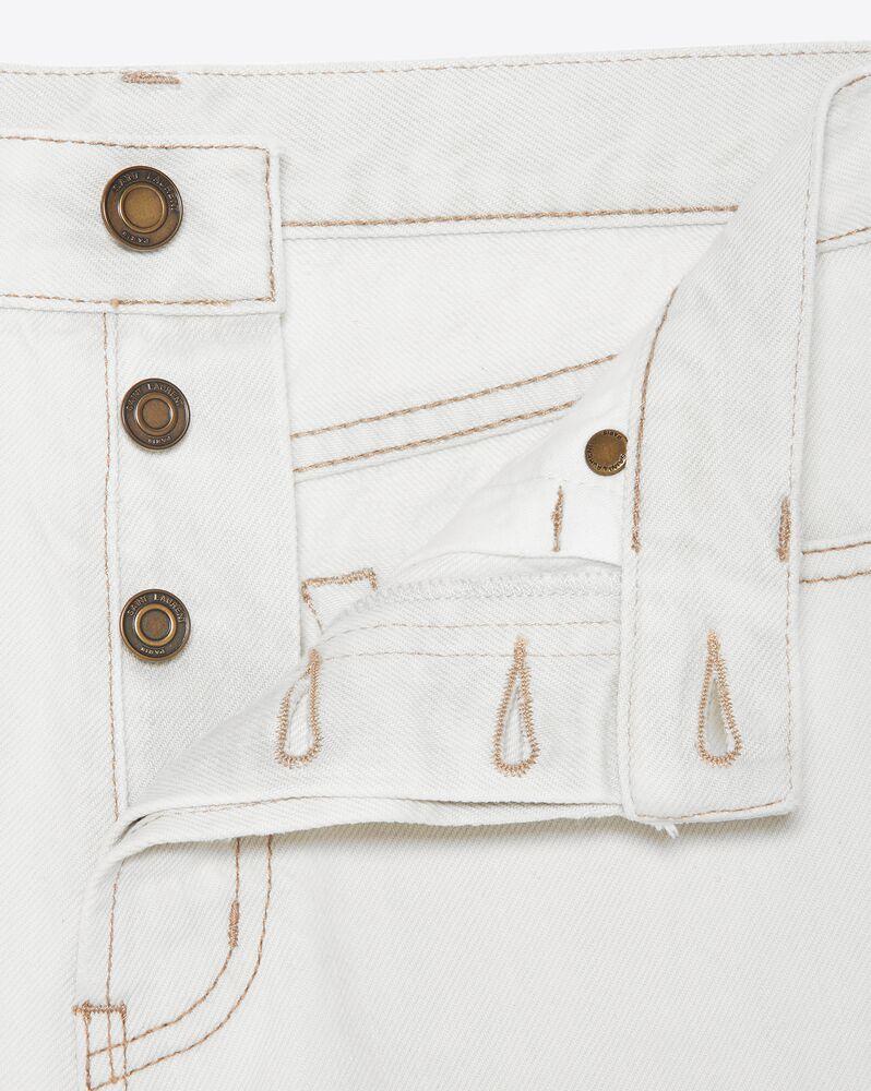shorts mit schnittkanten aus denim in grau und off-white