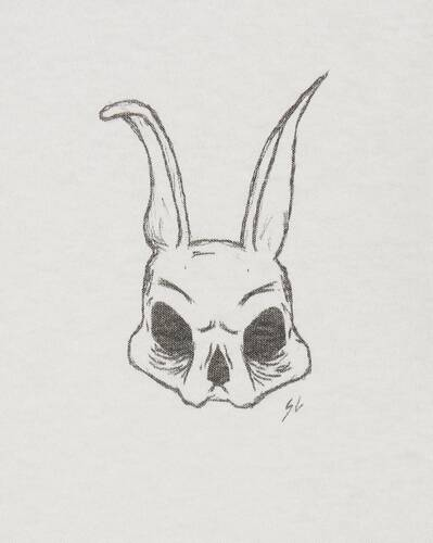 saint laurent rabbit skull t-shirt