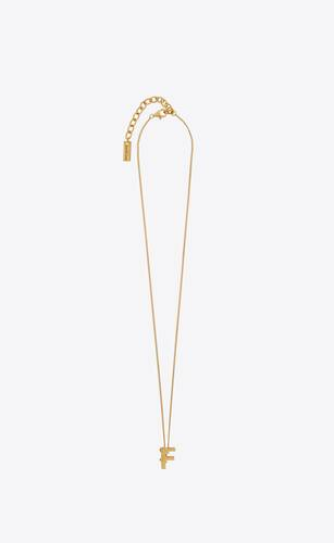 letter f pendant necklace in 18k gold