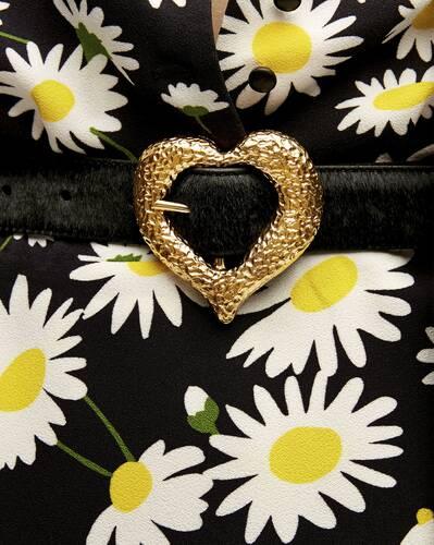 heart belt in pony-effect leather
