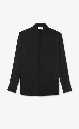 hemd aus glänzender und matter, fließender seide