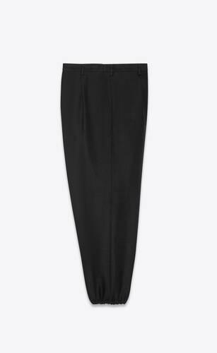 pantalones con pliegues tipo hakama de lino y algodón