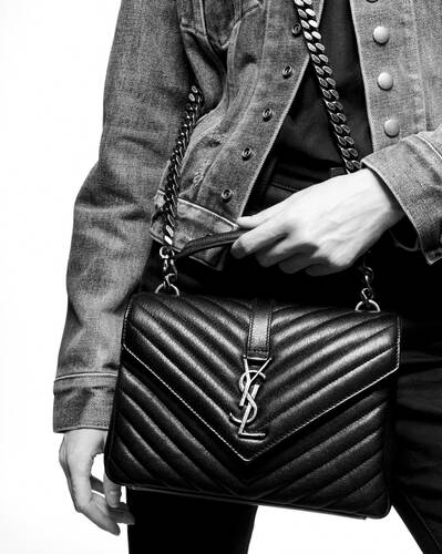 college medium bag in quilted leather