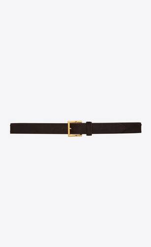 hinged buckle belt in pony effect leather