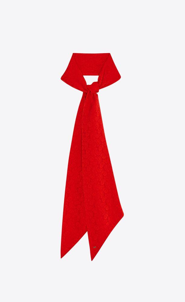 lavallière scarf in paisley silk jacquard