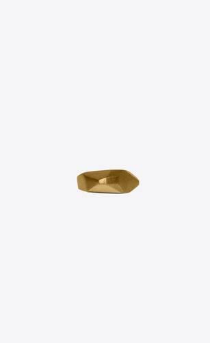 faceted rock ring in metal