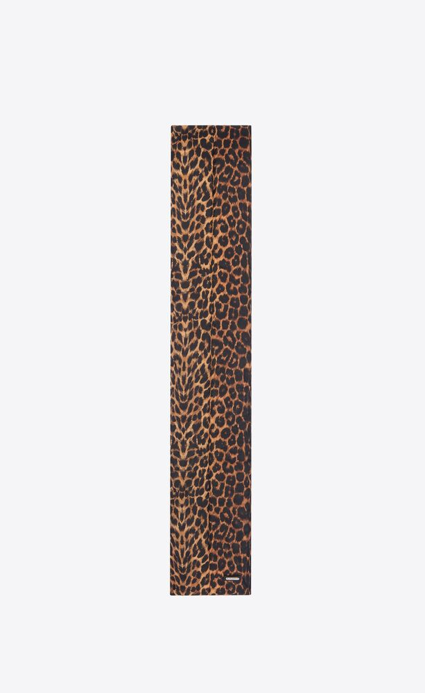 leopard-print puffer scarf in nylon