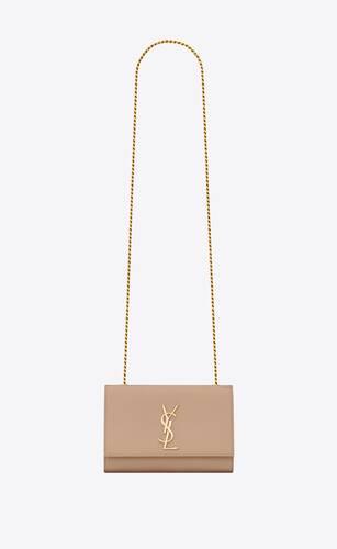 small kate chain bag in black grain de poudre textured leather