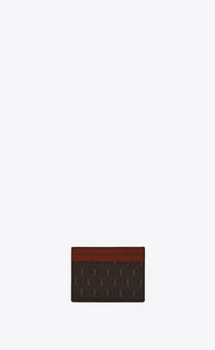 le monogramme card holder in saint laurent monogram canvas