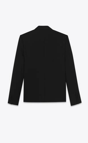 single-breasted jacket in gabardine saint laurent