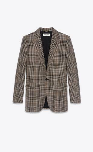 single-breasted jacket in prince of wales tweed