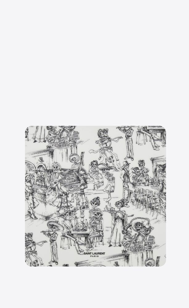 """""""día de los muertos"""" print mouse pad"""