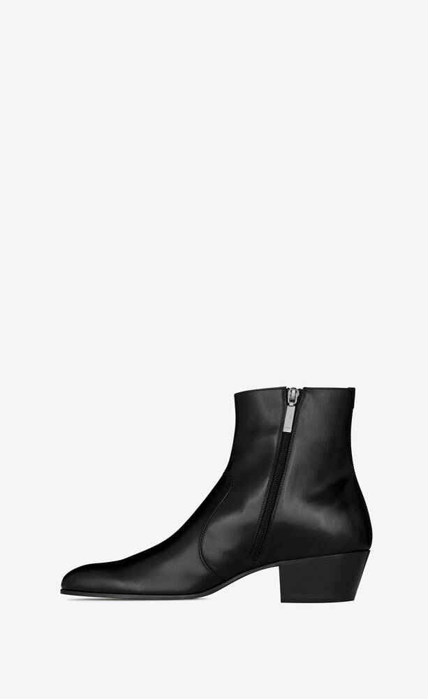 cole zipped boots in smooth leather