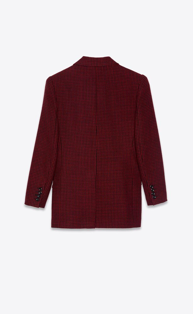 double-breasted jacket in wool houndstooth