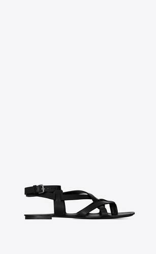 culver sandalen aus glattleder