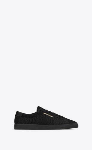sneakers andy de nobuk repujado de pitón