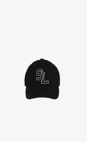 sl baseball cap in bouclé tweed wool