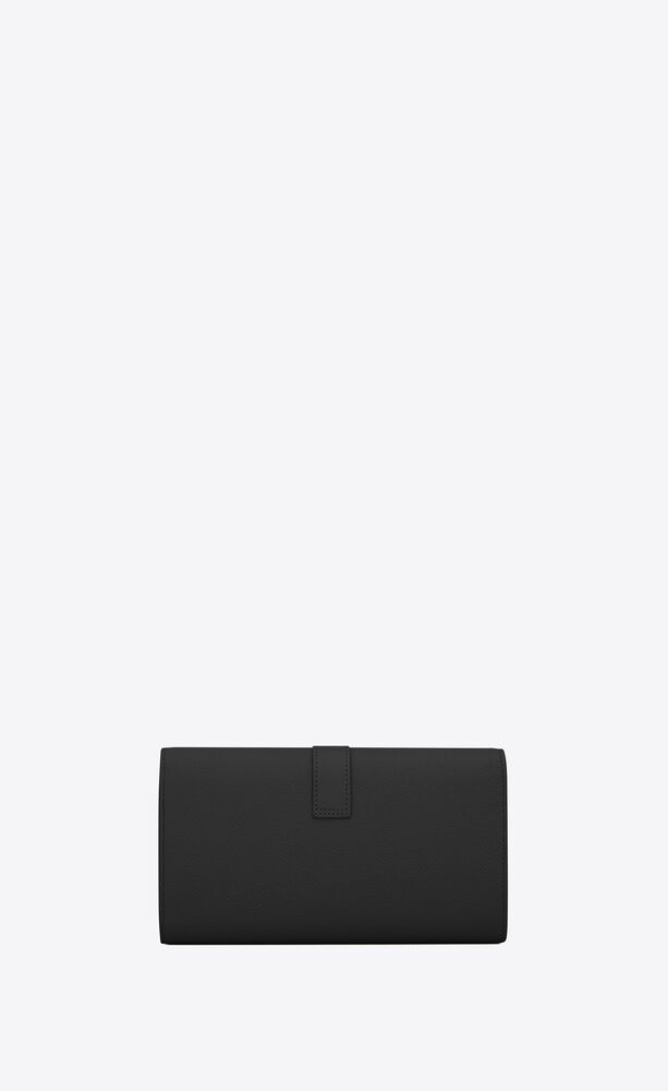 ysl line large flap wallet in grained leather
