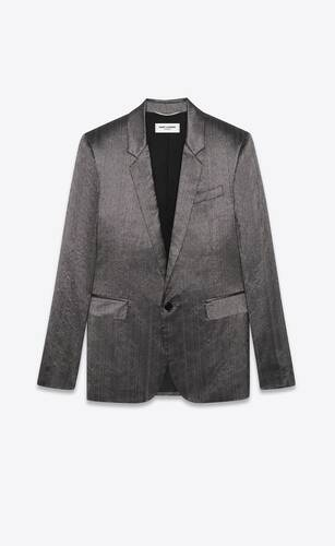 tailored jacket in flammé shantung