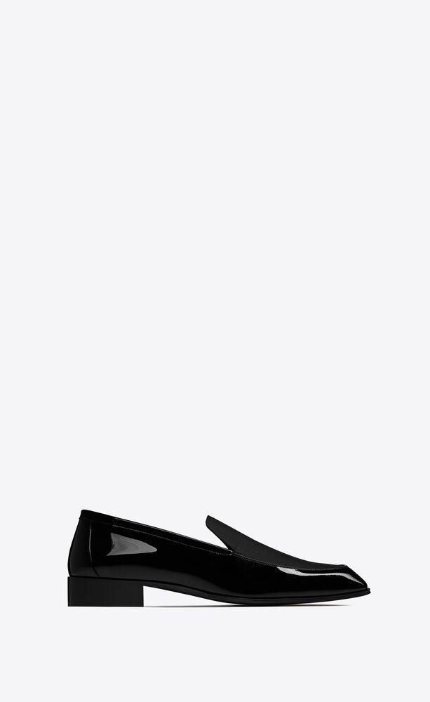 henry loafer aus lackleder und grosgrain