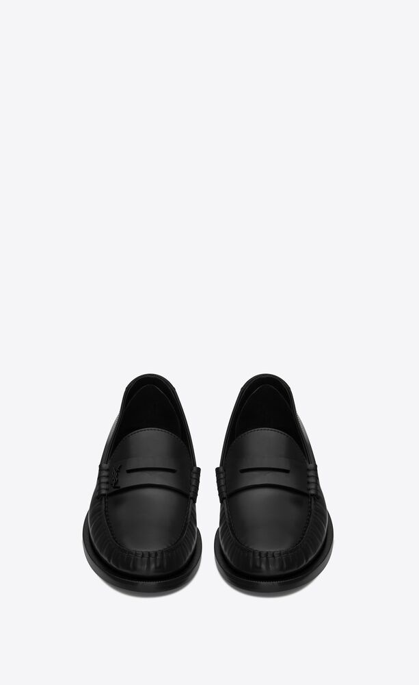 le loafer monogram penny slippers in smooth leather