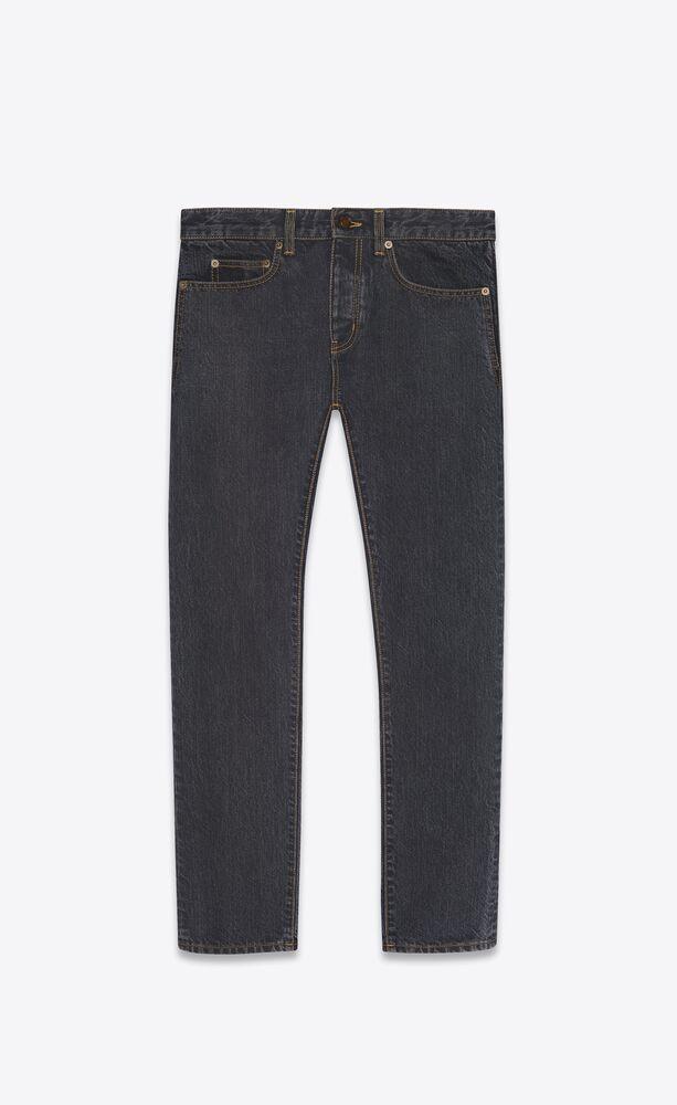 etienne pants in charcoal grey denim