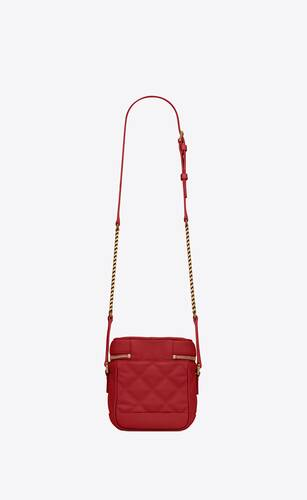 80's vanity bag in carré-quilted grain de poudre embossed leather