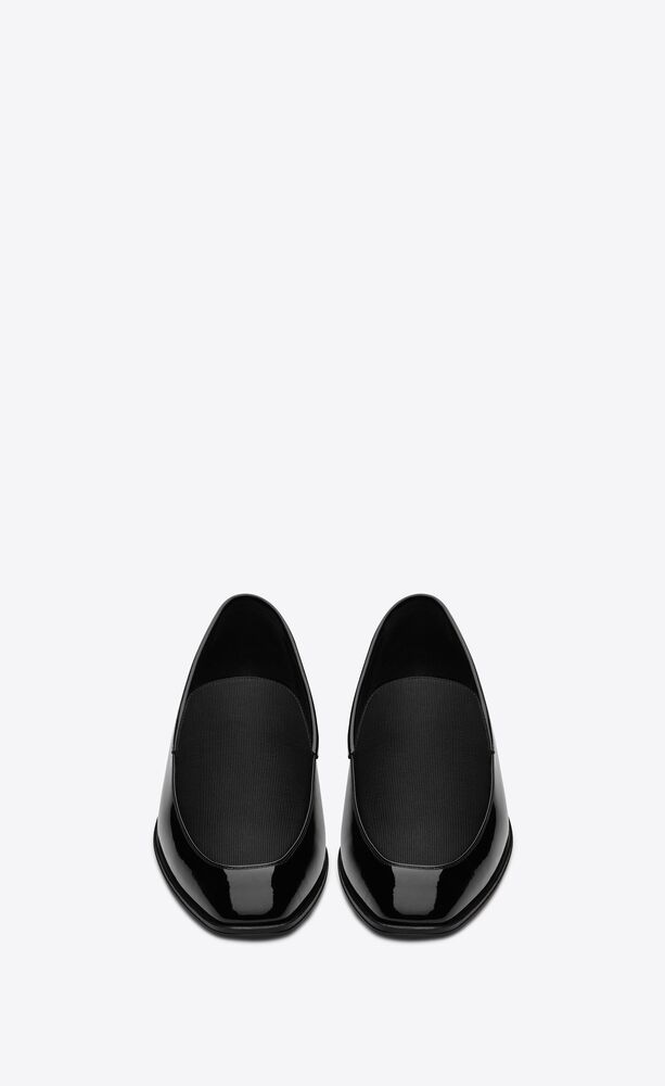 henry loafers in patent leather and grosgrain