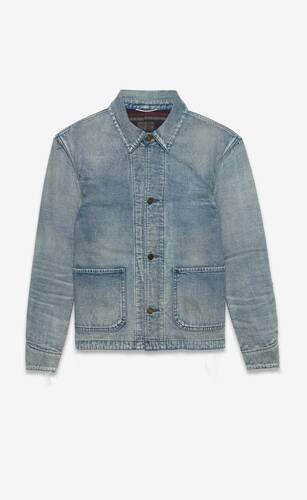 50s jacket in sun dirty blue denim
